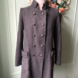 Zara wool military coat.